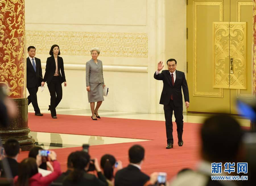 李克强总理与中外记者见面