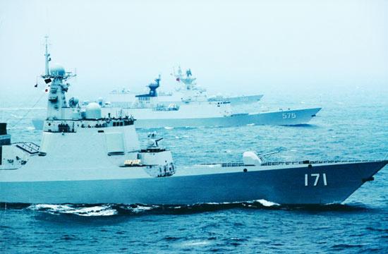 新一波中国海军主力舰船高清照