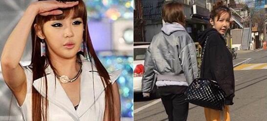 韩团2NE1成员朴春被疑整容失败 苹果肌下垂严重