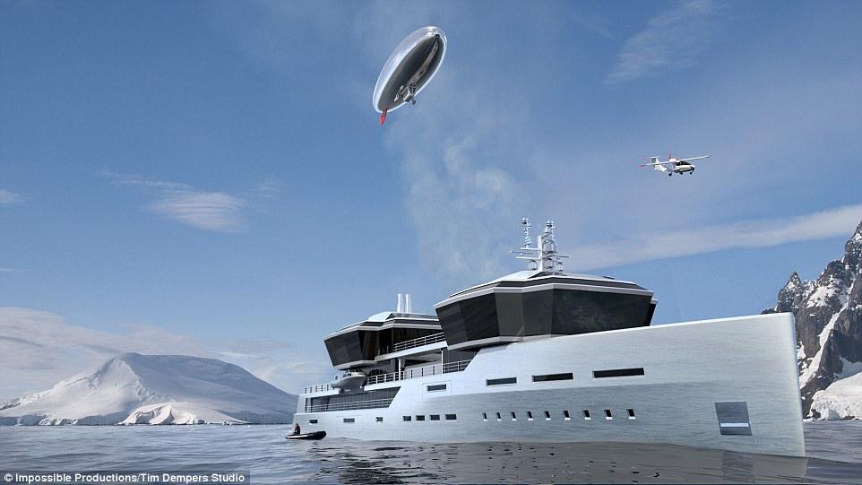 超豪华游艇概念设计曝光 可装载水上飞机