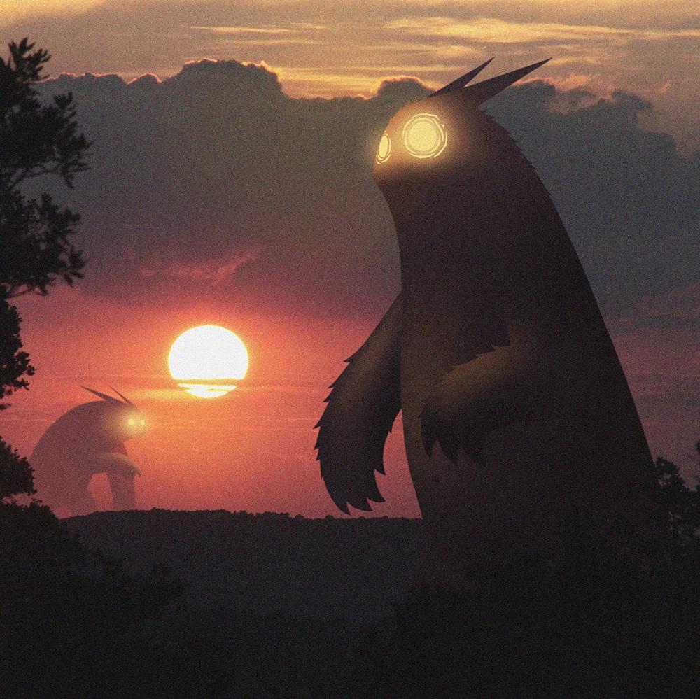 如此温柔的怪兽入侵图 你见过吗?