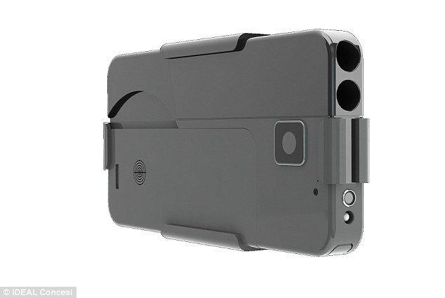 """美初创公司推出双管""""手机枪"""" 隐蔽性极高"""