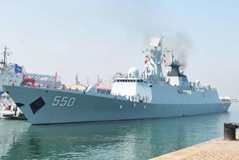 054A舰起航赴印尼参加联合演习