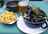 海虹薯条配啤酒, 比利时人最爱
