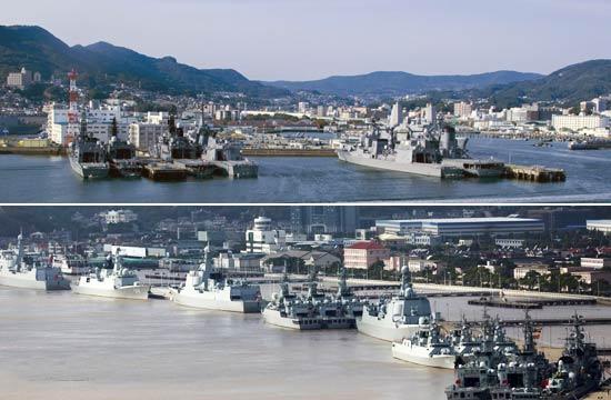面临东海的中日海军基地对比