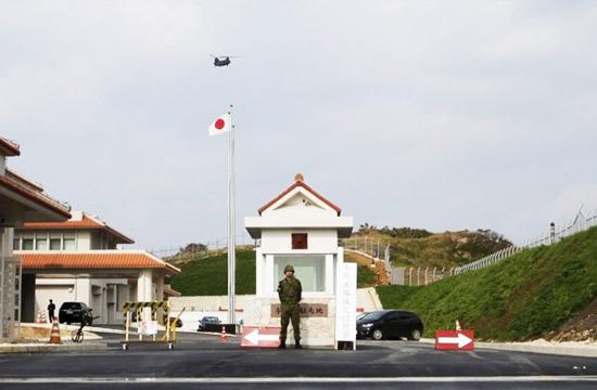 日本自卫队在与那国岛营地曝光