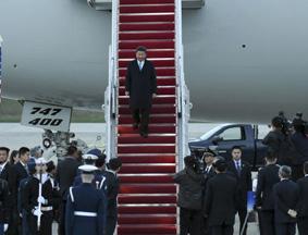 习近平抵达华盛顿出席第四届核安全峰会