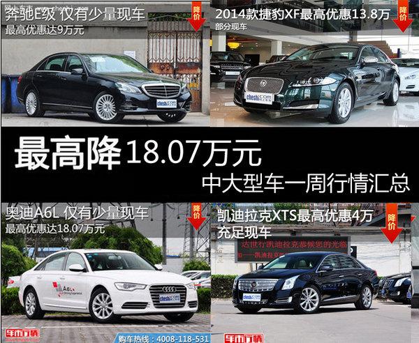 最高优惠达18万 中大型车一周内行情汇总