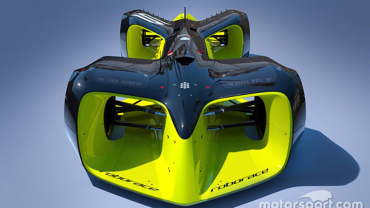 Roborace无人驾驶电动赛车亮相 科幻设计