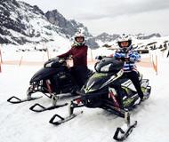 比速度拼颜值!郭涛父子滑雪石头和老爸谁赢?
