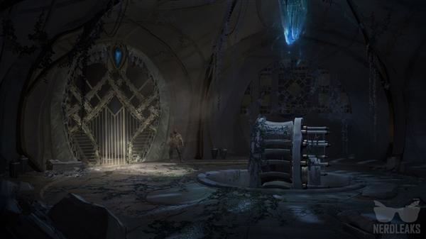 《战神4》大量原画泄露:北欧神话场景恢宏