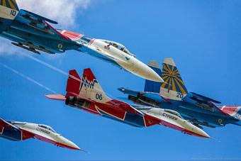 俄勇士飞行表演队成立25周年