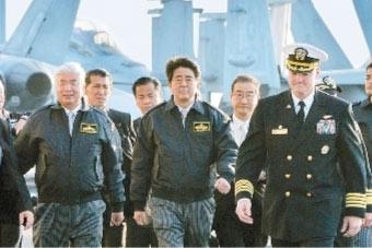 """安倍称美军撤出日本""""不可想象"""""""