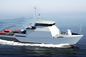 俄罗斯新型扫雷艇造型超科幻