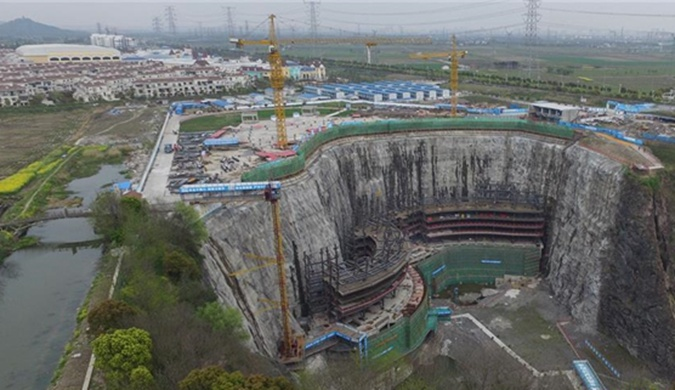 世界建筑奇迹!上海深坑酒店2017年建成(图)