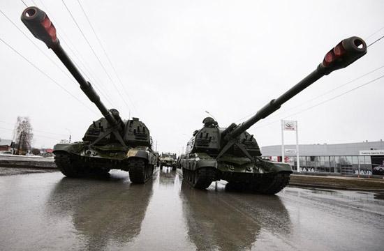 俄军开始举行胜利日阅兵彩排