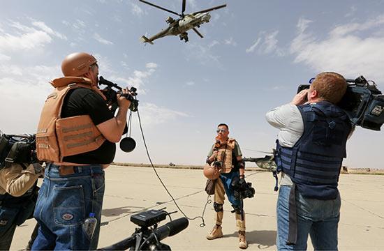叙利亚前线不乏中国记者身影