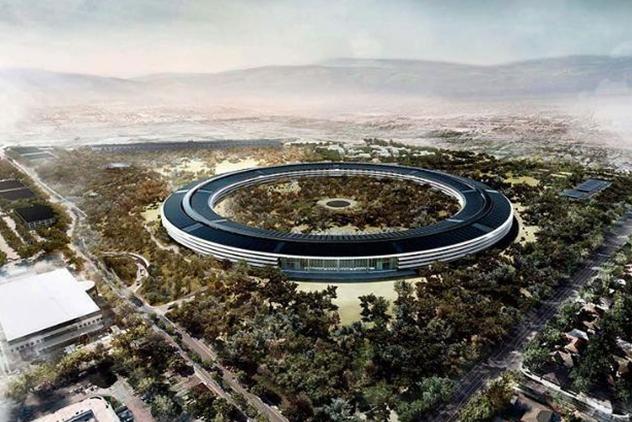 44张图游览苹果太空船总部:以后新品发布会都在这开