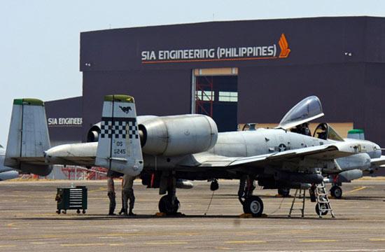 美军A-10攻击机抵达菲律宾