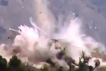 米17降落在路边炸弹上 结果悲剧了
