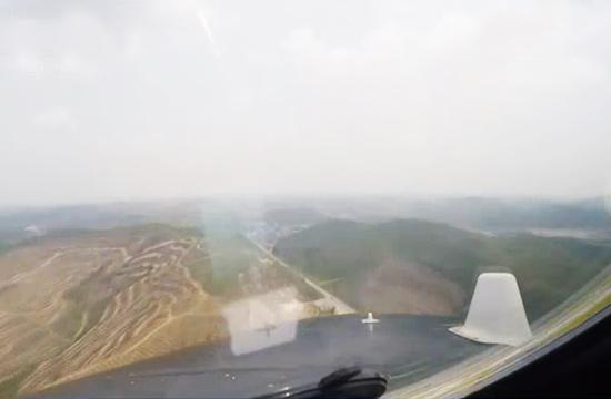 轰6K百米低空贴地飞行第一视角