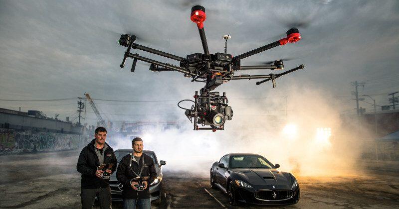 大疆再放大招!新一代无人机M600瞄准好莱坞