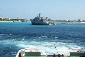 海军测量船曾在西沙岛礁搁浅