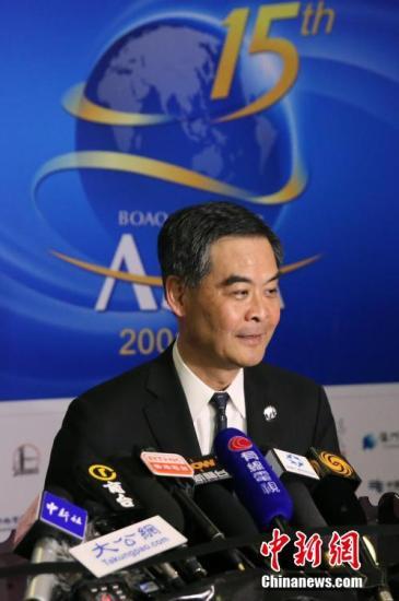 """梁振英:""""一国两制""""是香港的独特优势!"""