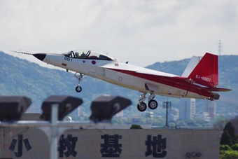 """日本""""心神""""五代机验证机首飞画面"""