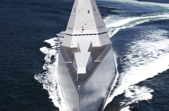 美军DDG1000战舰表面工艺细腻