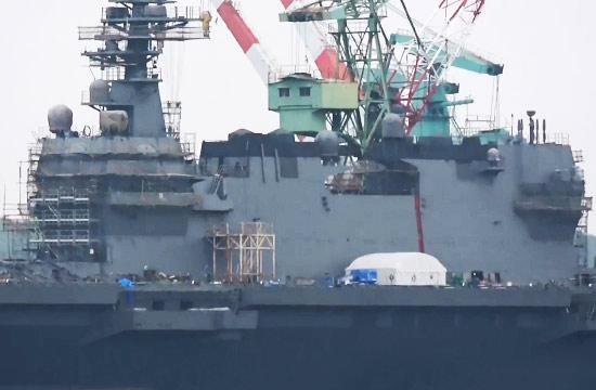 日本出云级准航母二号舰快造好