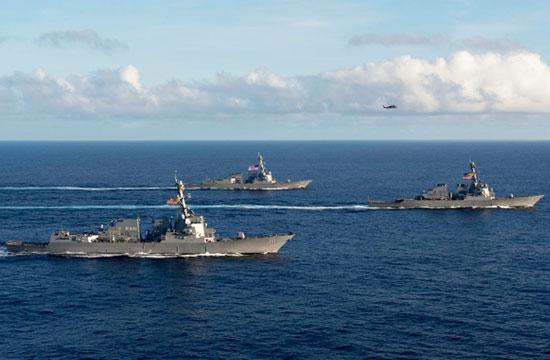 美军向太平洋单独派3艘伯克舰