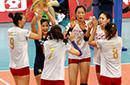 中日女排对抗赛 中国3-0轻取日本斩获两连胜