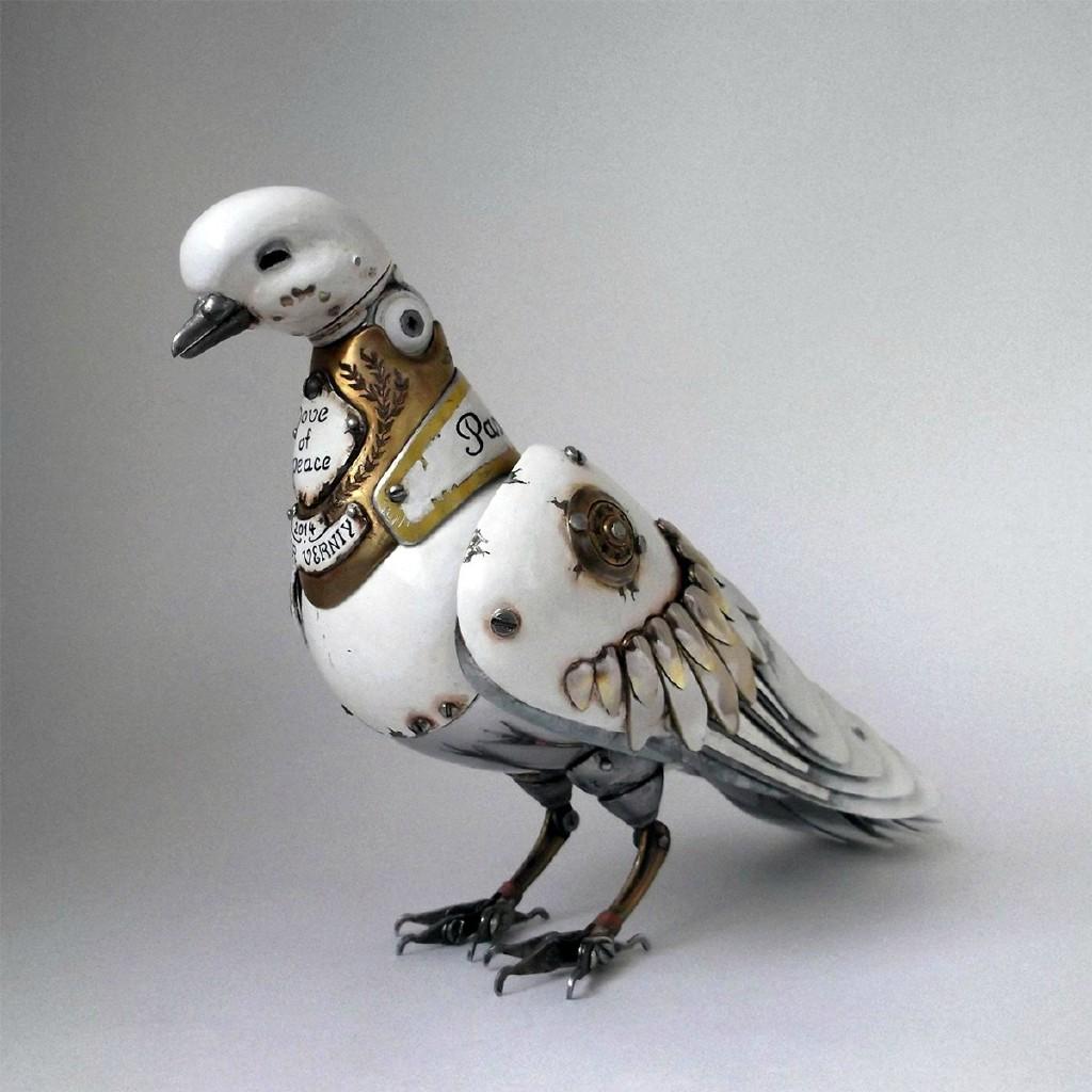 雕塑家 igor verniy 使用废旧机械零件创造的蒸汽朋克风格动物雕塑,惟