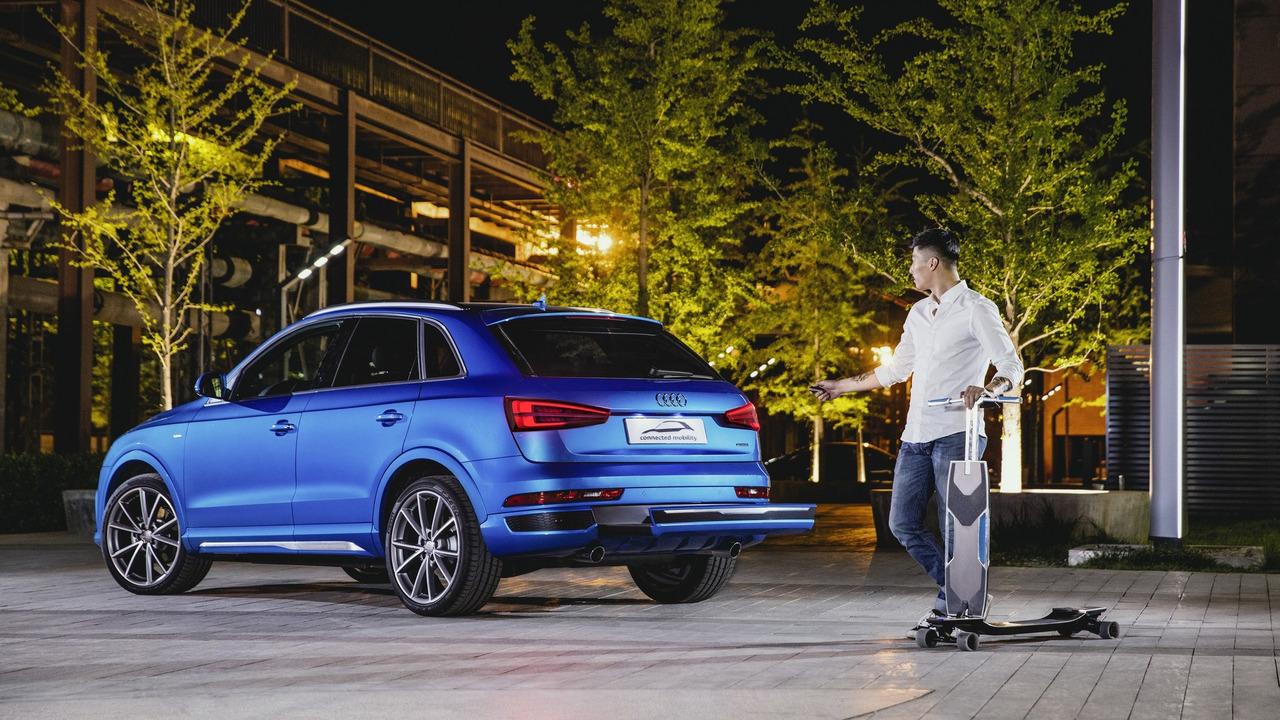 奥迪互联交通概念车北京发布 配电动踏板车