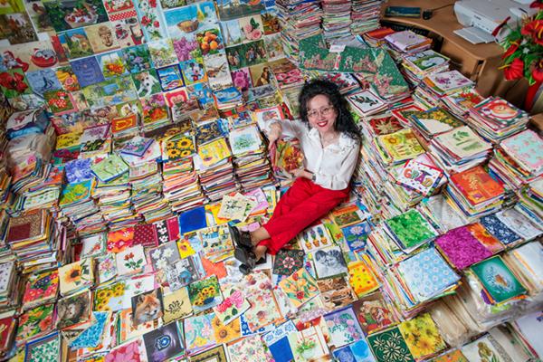 斯洛伐克妇女收藏8万纸巾 四度打破吉尼斯世界纪录