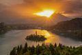 欧洲最美湖泊布莱德湖