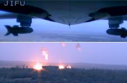 国产翼龙无人机投放子母弹画面曝光