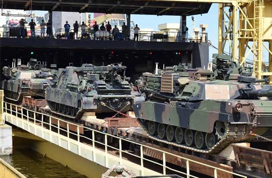 美将大批坦克部署到俄罗斯门口
