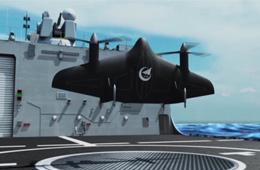 VD200垂直起降无人机上舰作战模拟动画