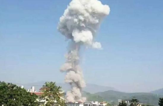 缅甸掸邦发生爆炸腾起蘑菇云