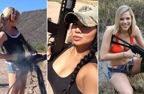 看那些酷爱室外靶场的女枪迷