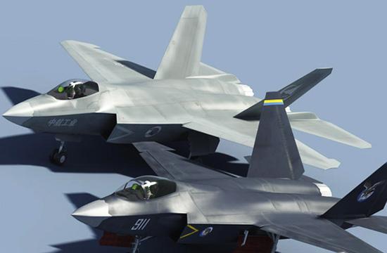 歼31与歼31B四代机同角度对比