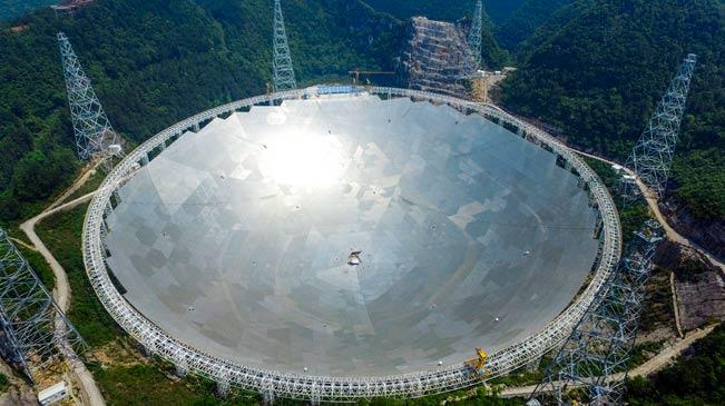"""中国""""世界最大单口径球面射电望远镜""""即将建成"""