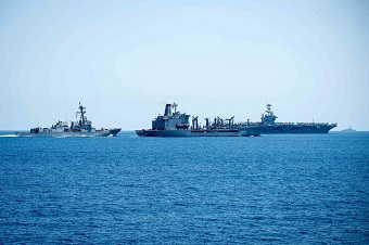 斯坦尼斯航母还待在中国南海