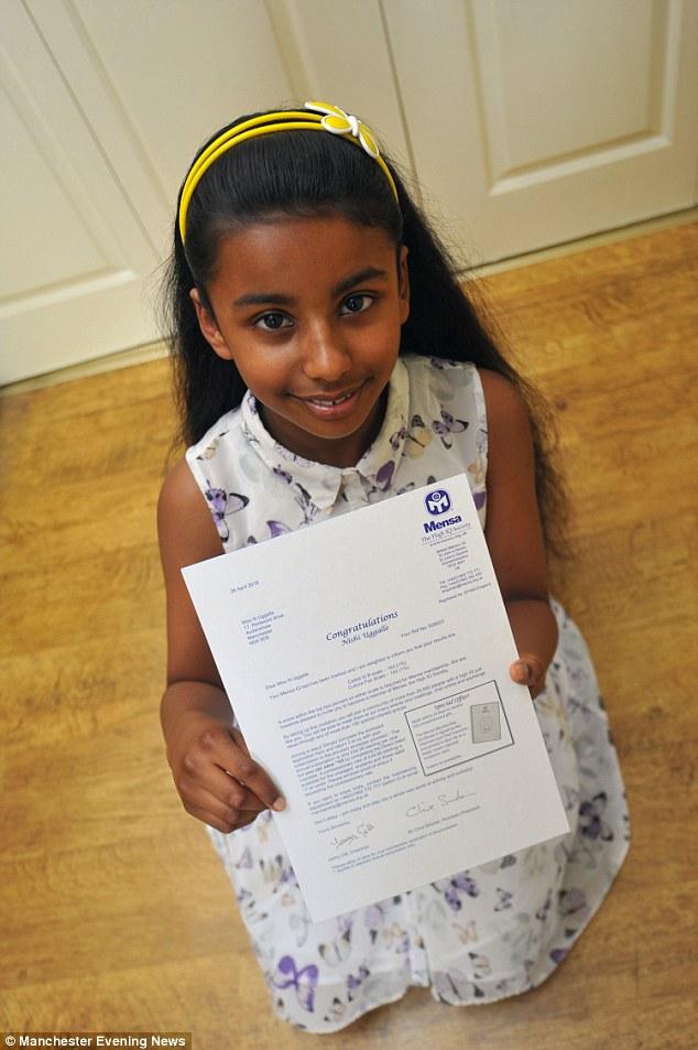 英国10岁女孩IQ高过爱因斯坦 加入门萨俱乐部
