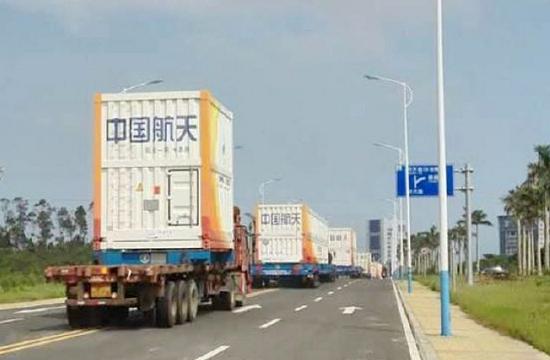 长征七号运抵海南文昌发射场