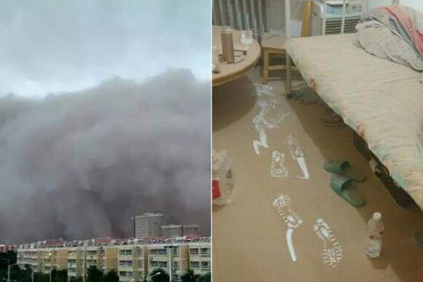 新疆喀什现强沙尘暴 场景犹如灾难大片