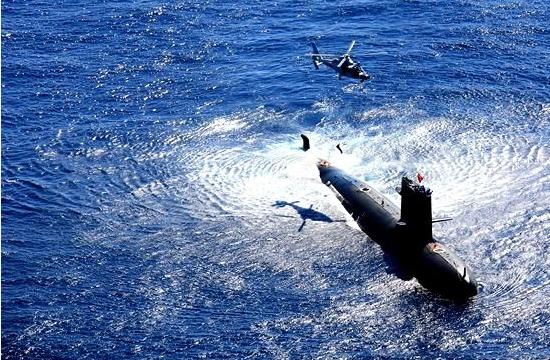 中国潜艇南海演练自由对抗