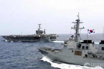 韩国或将定期与美日联合军演